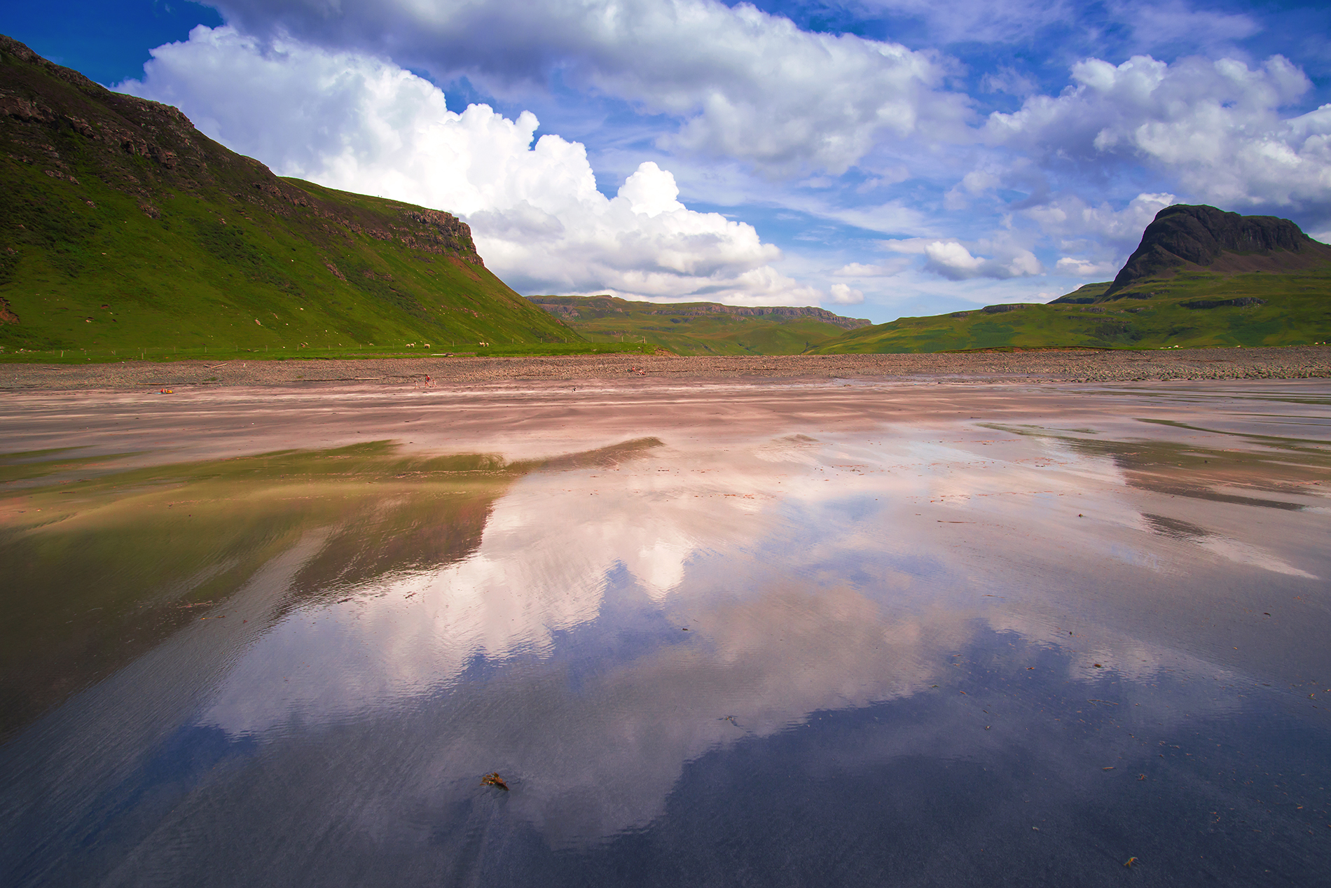 Reflections of Talisker Beach 1