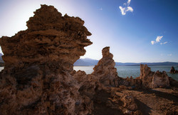 The sun sets on the Tufa at Mono Lake