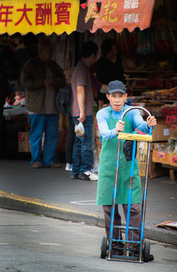 Worker Chinatown San Francisco
