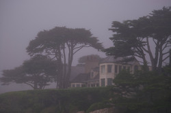 A Carmel home in the mist