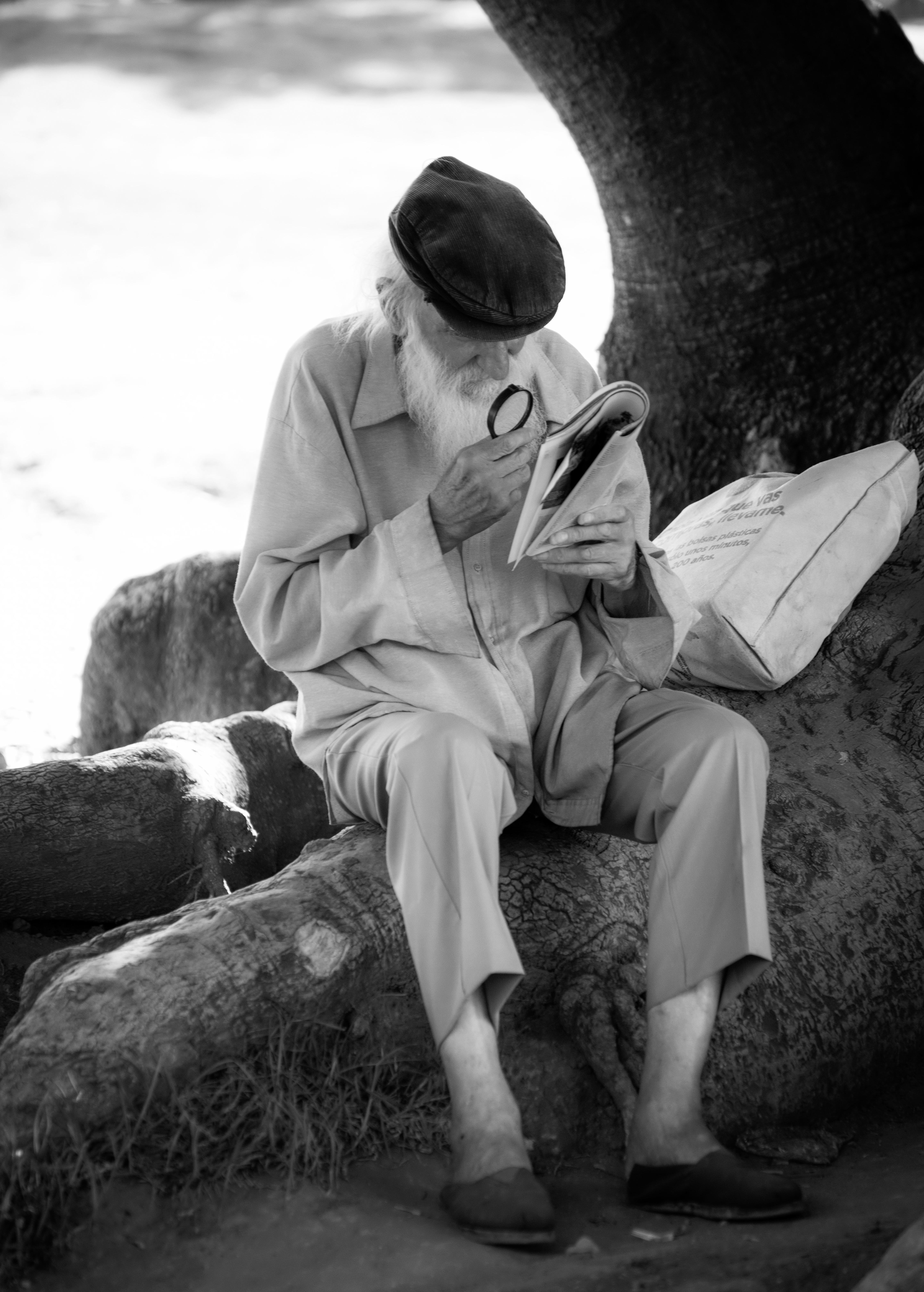 Lector en Recoleta, Buenos Aires