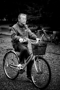 Cycling through the Park-Kyoto Japan