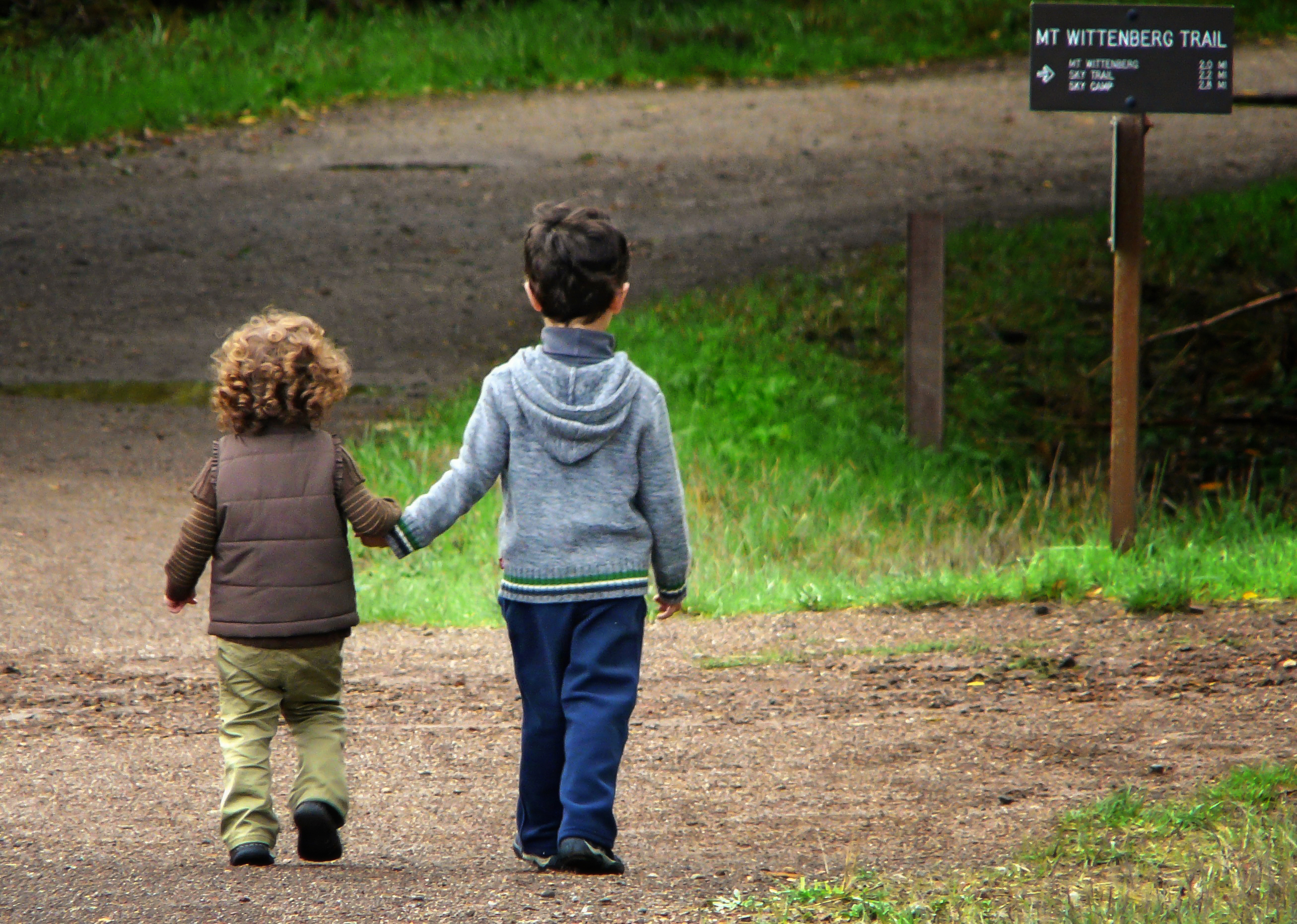 Sibling on a walk--Point Reyes