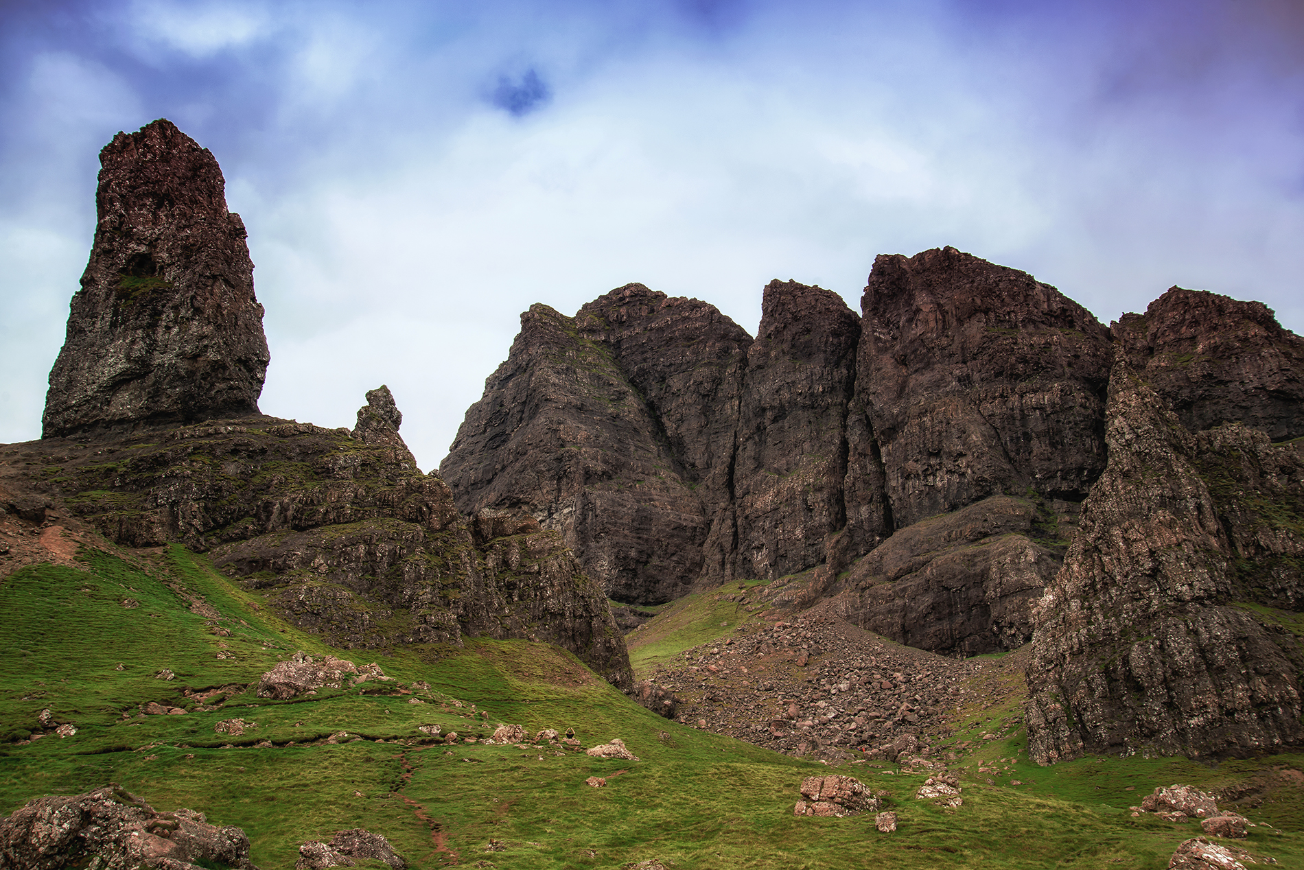 East side of Old Man Storr
