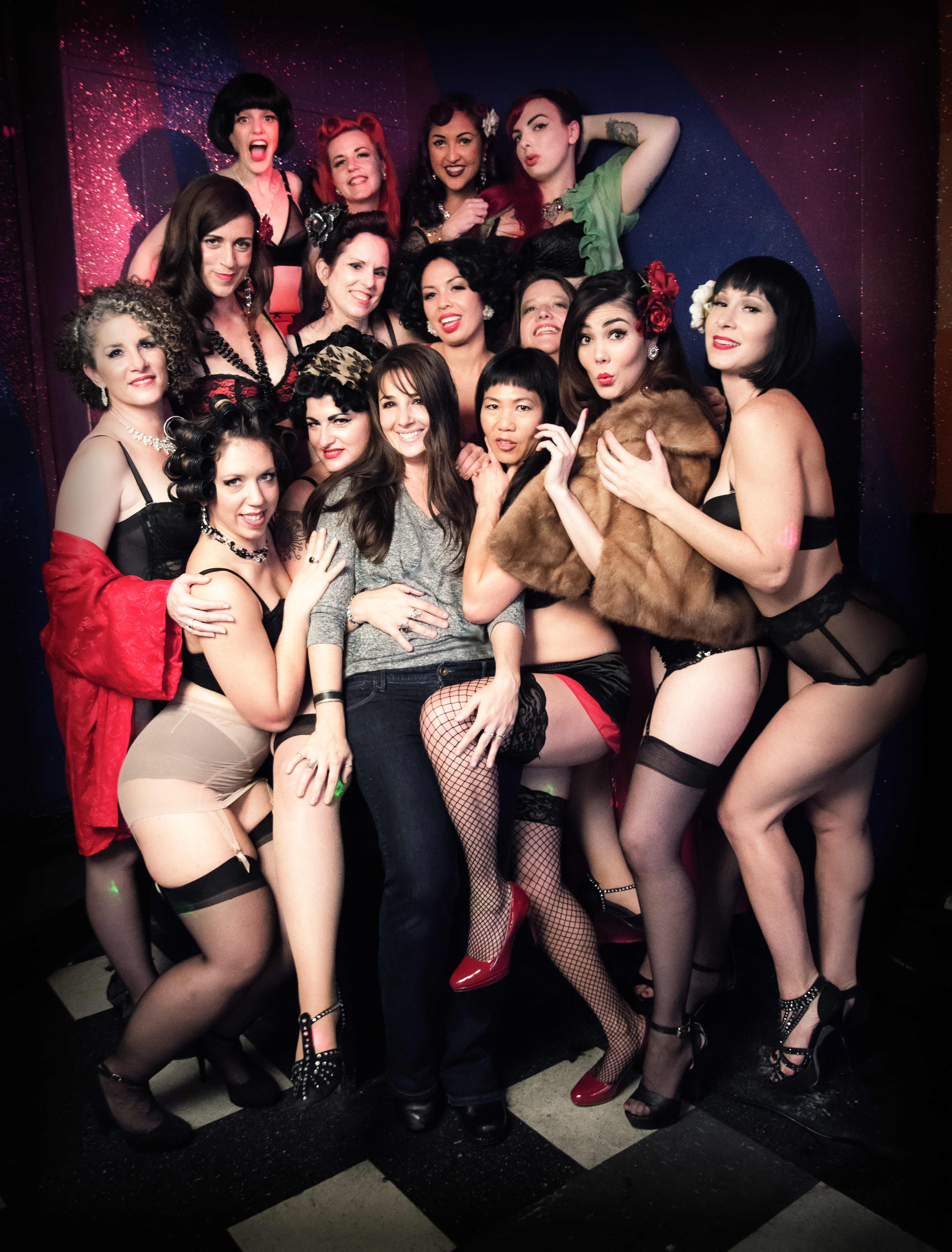 Burlesque Performers with Photographer A