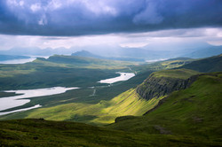 Low clouds over the Trotternish Peninsul