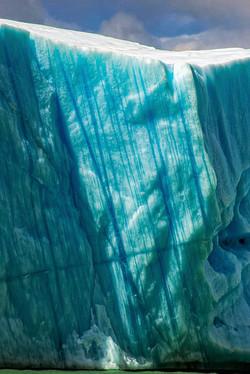 Texture of an iceberg