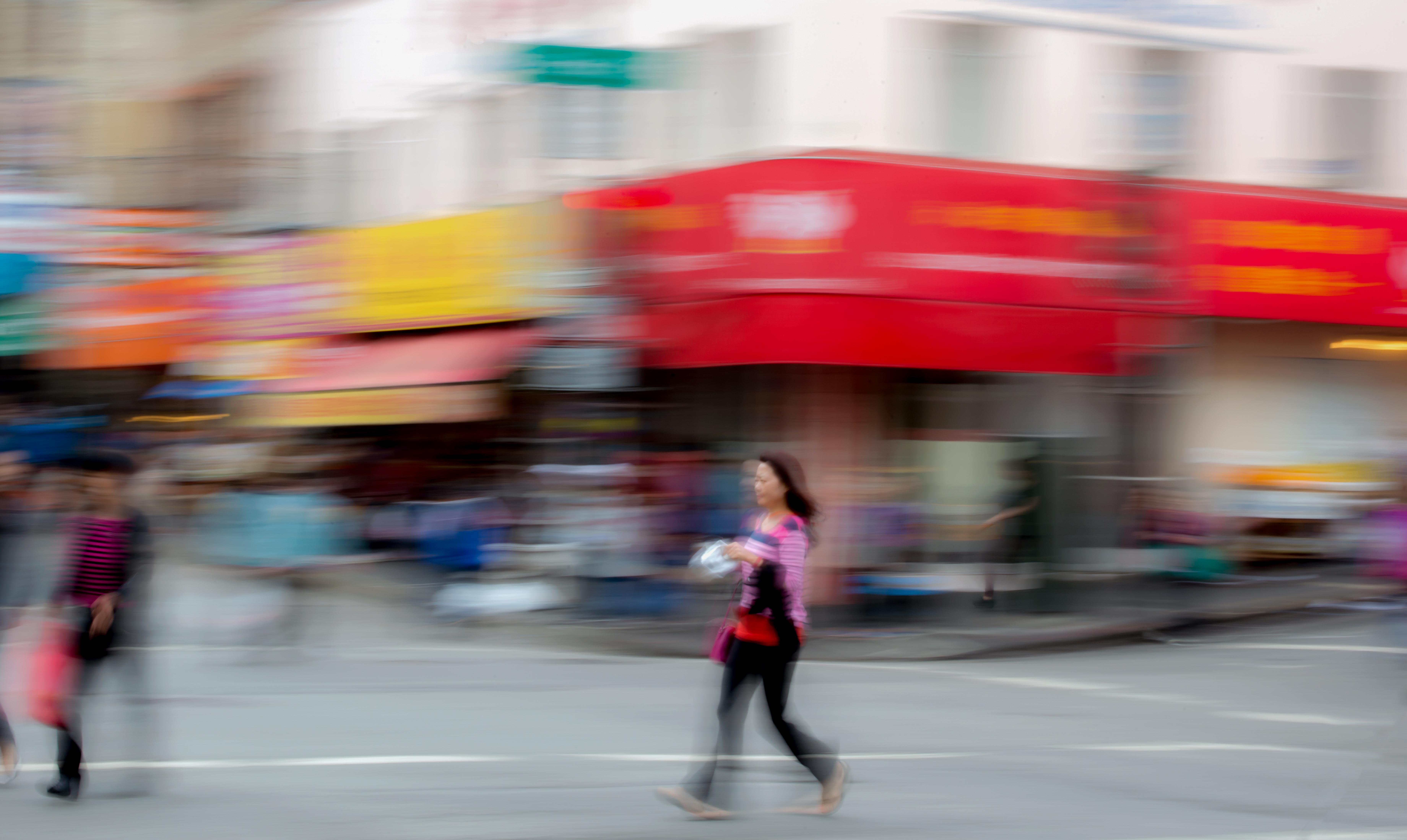 Crossing the Street Chinatown San Franci