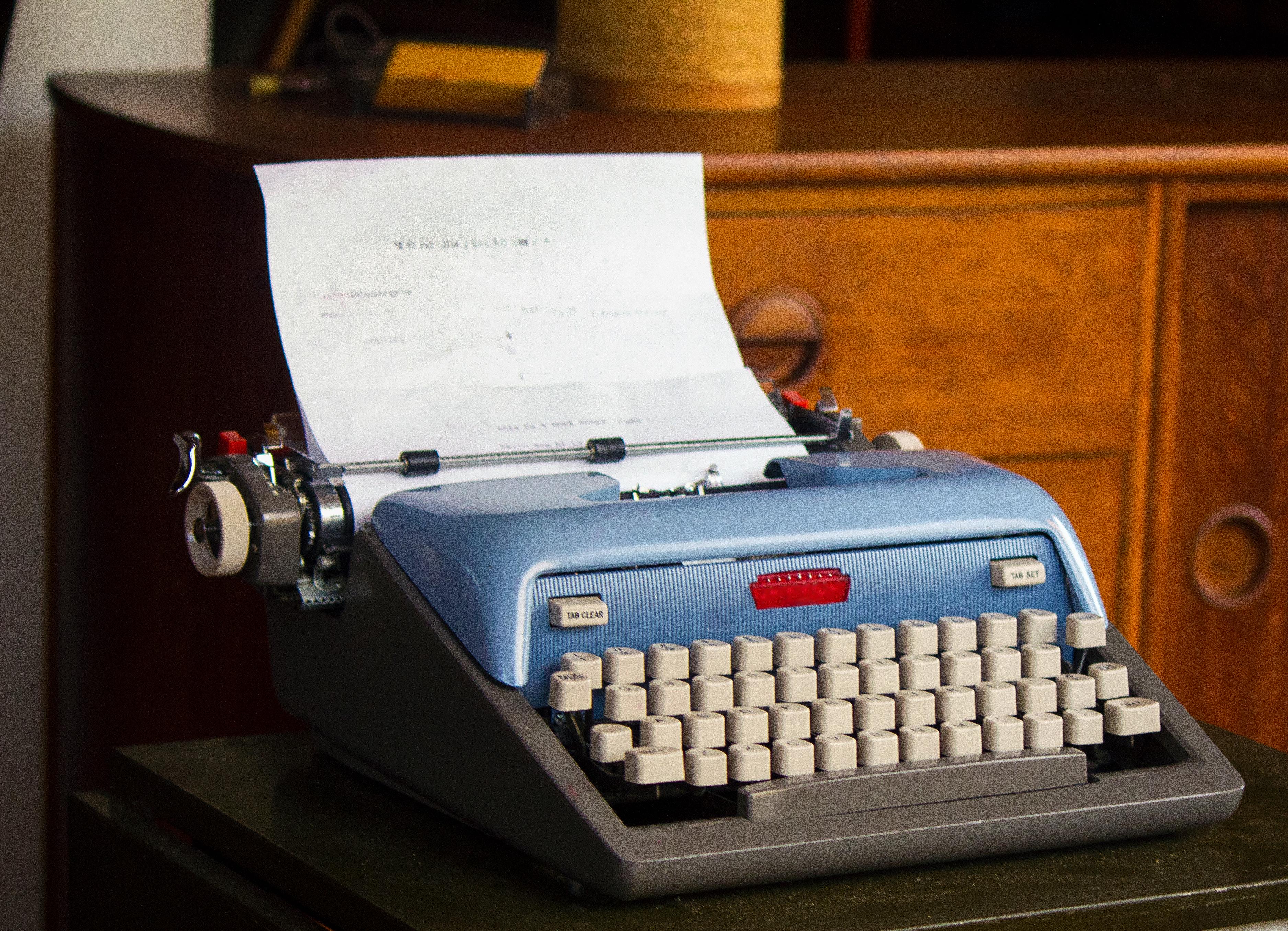 A Waiting Typewriter