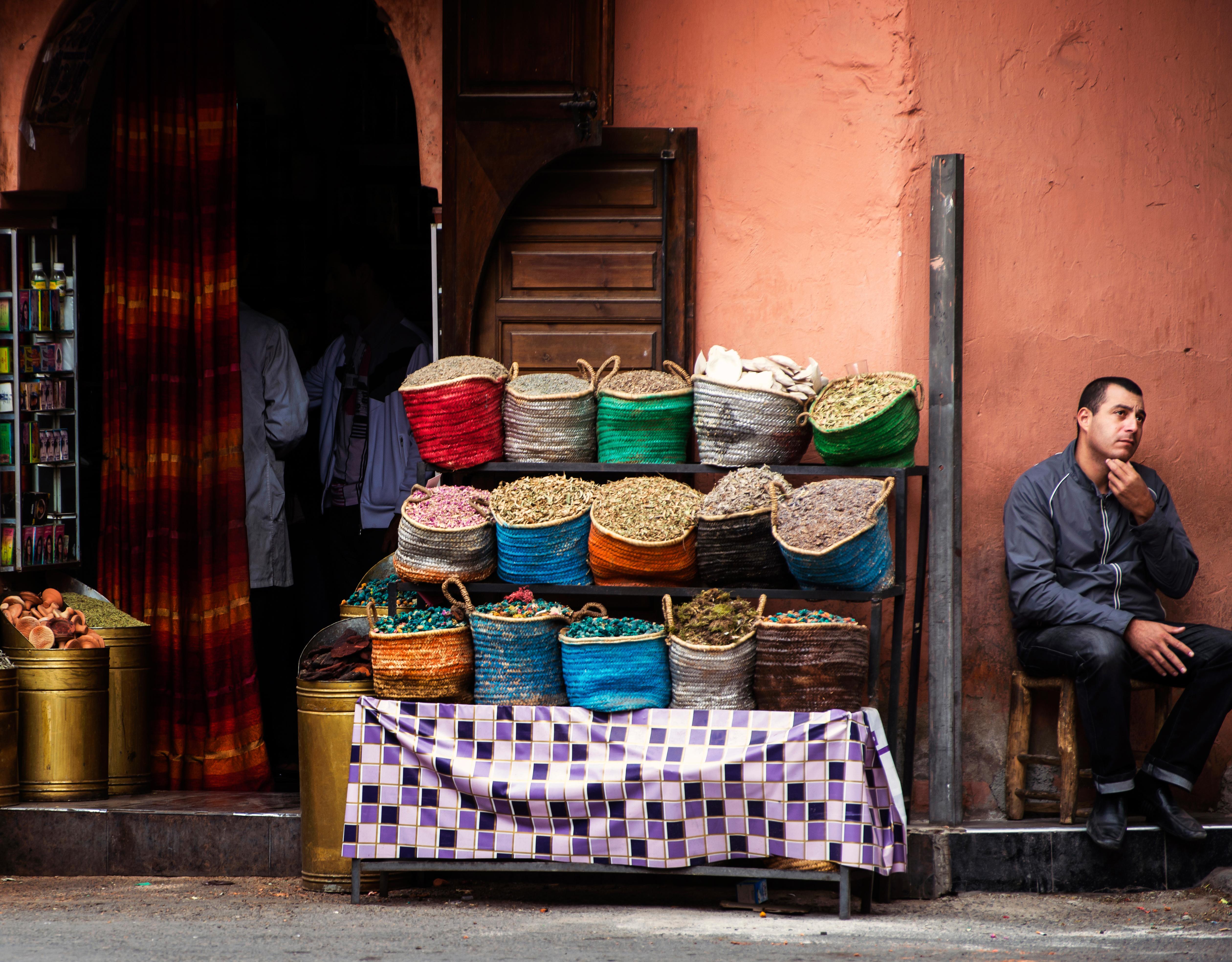 Pensive Merchant-Marrakech Morocco