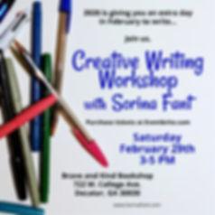 Creative Writing Workshop 2:29 400x400.j