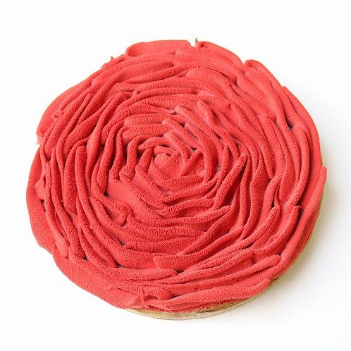 Red berries Bakewell tart
