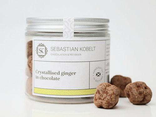 Stem ginger in chocolate