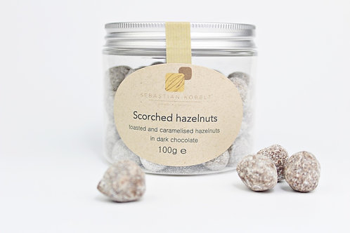 Scorched hazelnuts