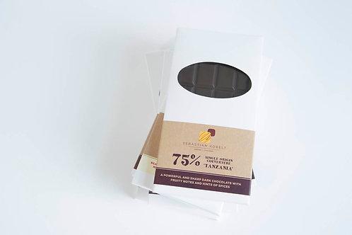 dark chocolate bar, 75%