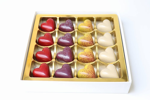Chocolate heart selection