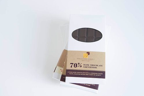 dark chocolate bar, 70%