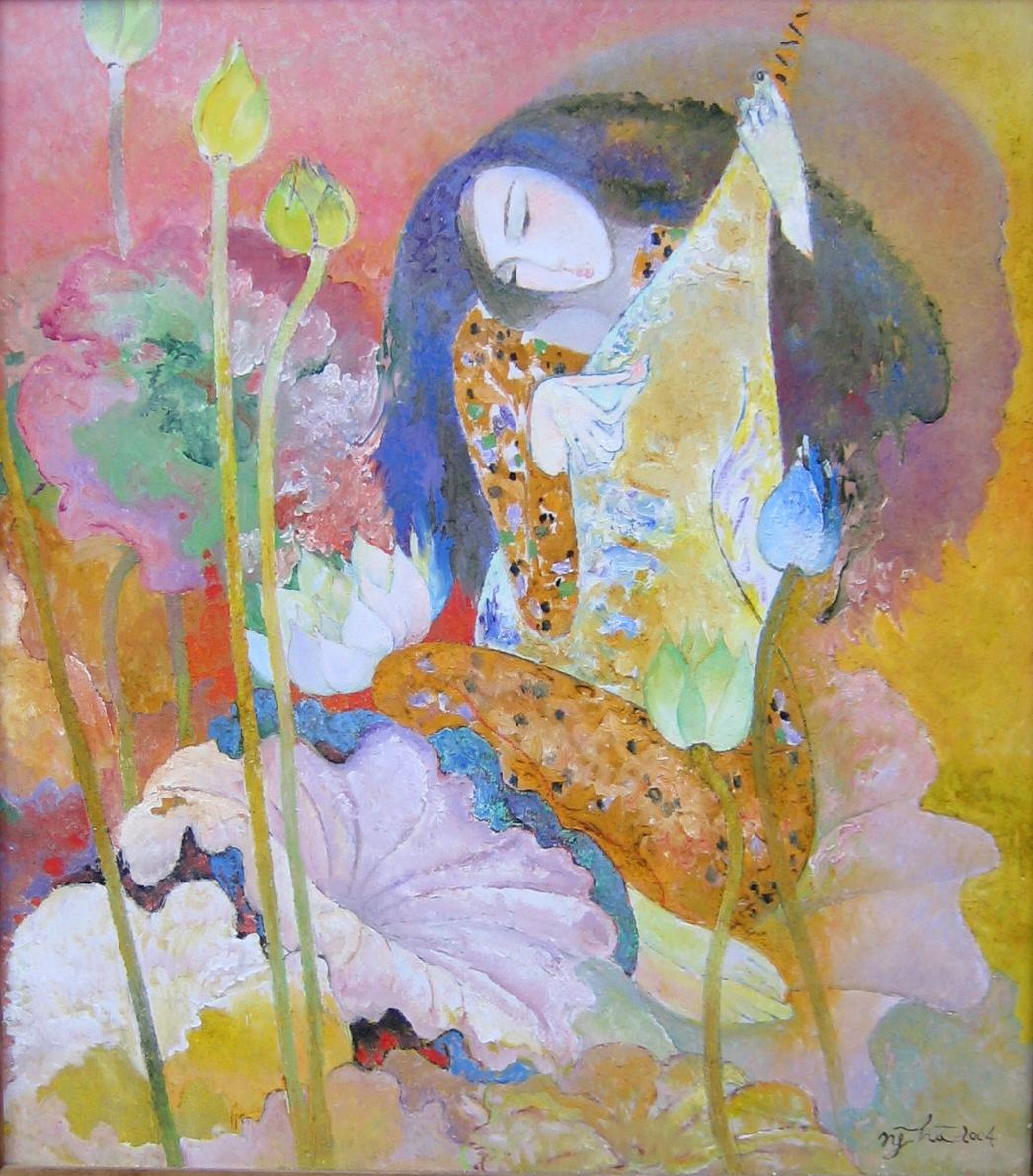 Young Girl and Traditional Music Instrumental | Đàn Tì Bà