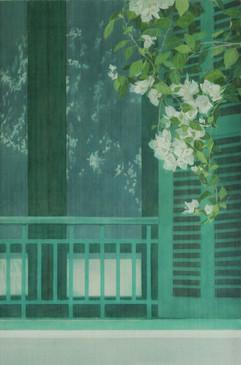 Green Window Frame | Khung Cửa Sổ Màu Xanh