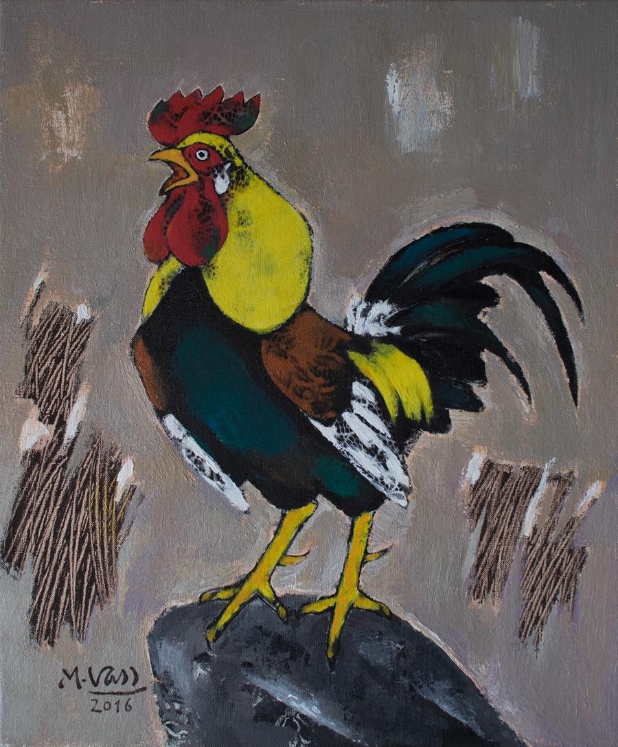 Crowing Cock   Gà Gáy