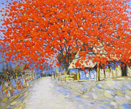 Red Tree Alley | Hẻm Cây Lá Đỏ