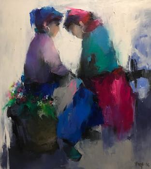 Two Women at the Market | Hai Người Phụ Nữ Ở Chợ