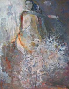 Lady in Lotus Pond | Thiếu Nữ Trong Vườn Sen