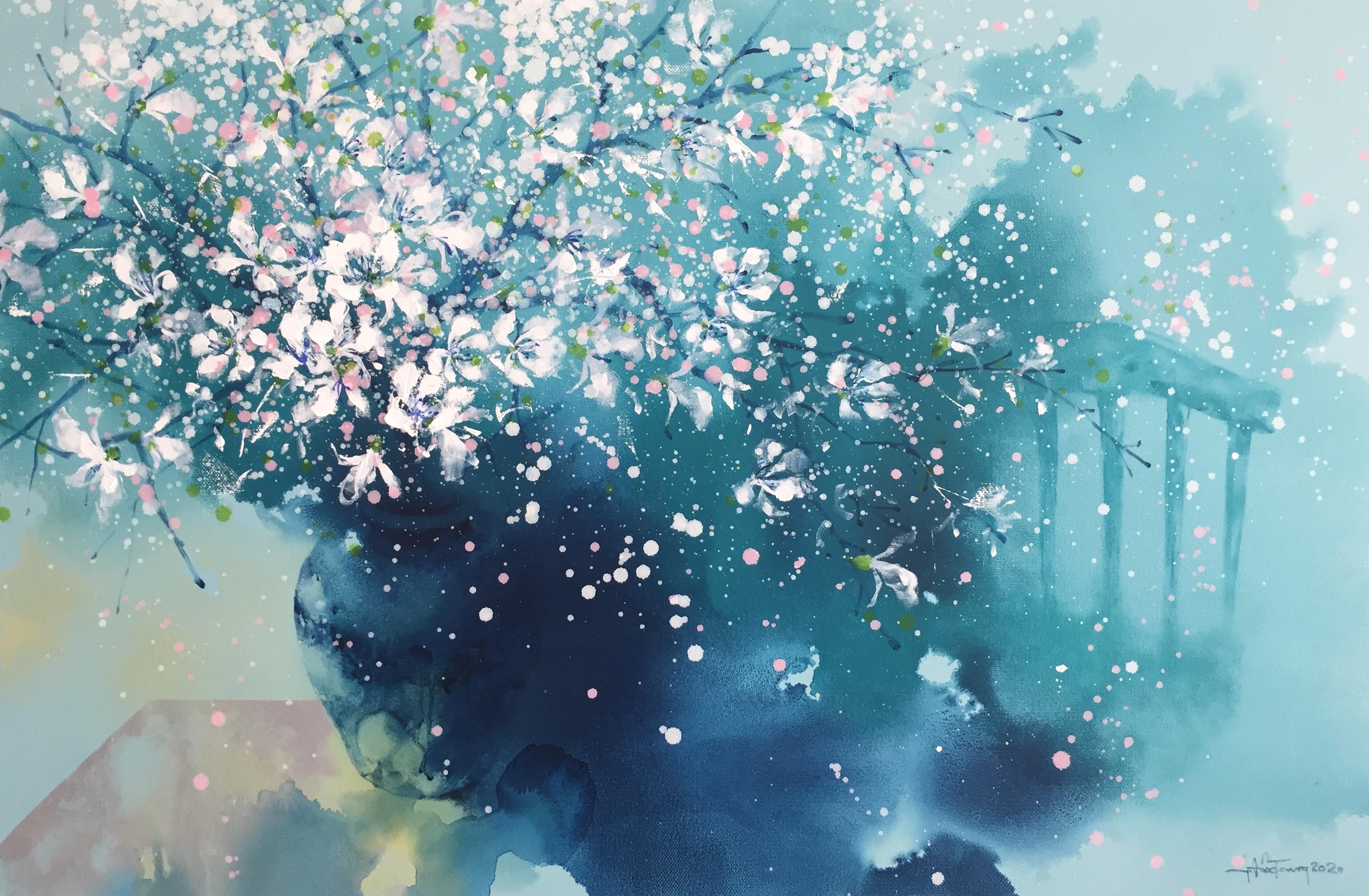Ban Flowers In Blue Space | Hoa Ban Trong Không Gian Xanh