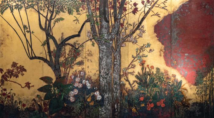 Nguyễn Trần Cường 2017 Lacquer on wood Sơn mài trên gỗ 220 x 400 cm  For reference | Tác phẩm tham khảo