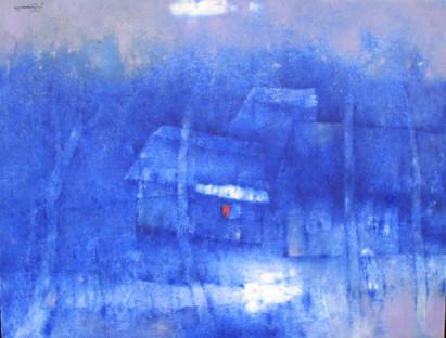 Village in Blue   Ngôi Làng Trong Sắc Lam