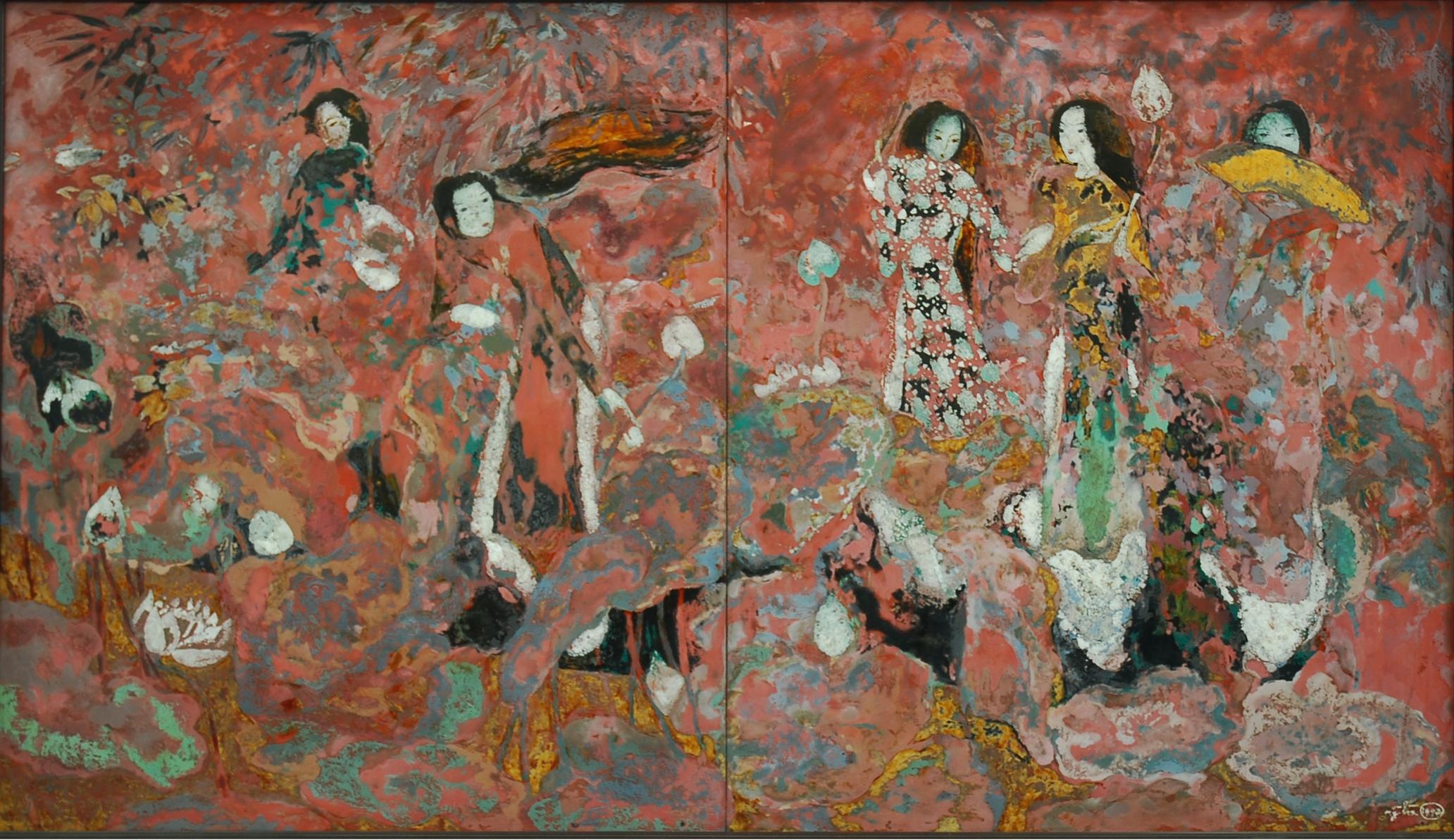 Young Ladies and Lotus | Thiếu Nữ Và Hoa Sen