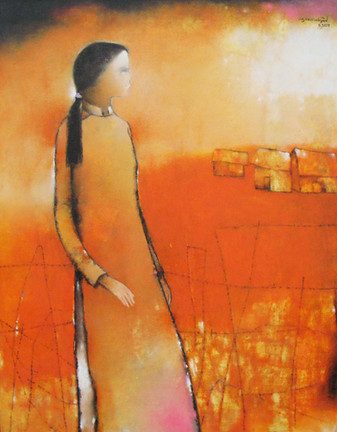 A Lady near by River | Thiếu Nữ Bên Bờ