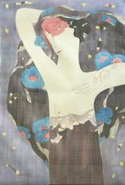 Lady And Blue Flowers No. 1 | Thiếu Nữ Bên Hoa 01
