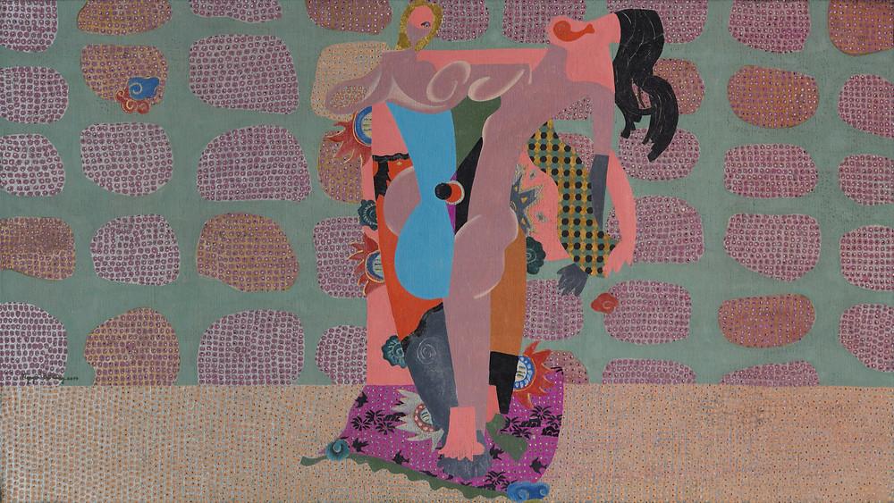 Nguyễn Thế Hùng, Vùng Đất Của Kẻ Mộng Du 02, 2017, sơn mài trên toan, 89 x 158 cm