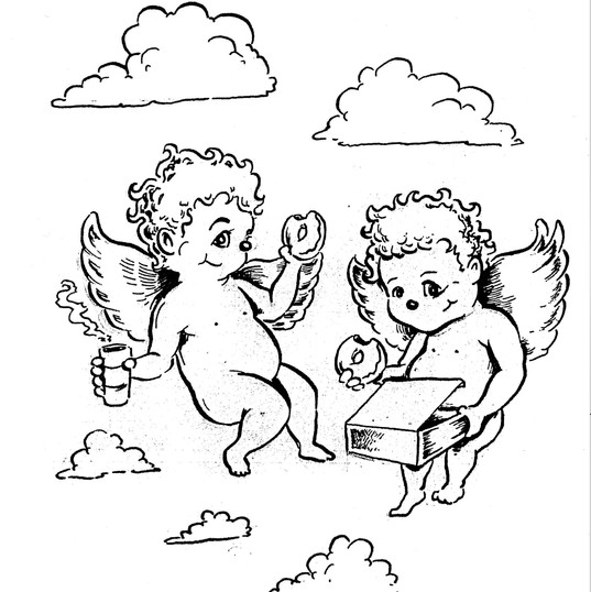 Cherubs with Donuts