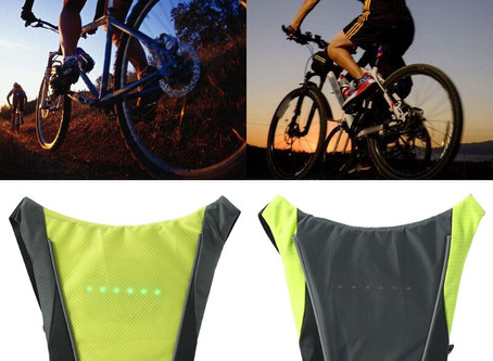Wireless Remote Control Cycling LED Signal Vest