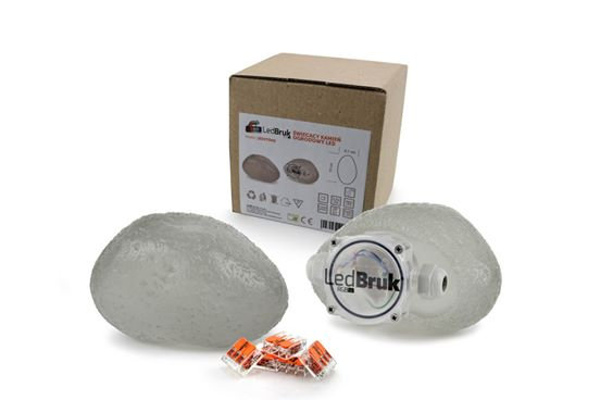 Ljóshella LED stein: 6,5 x 15 cm / 6 cm