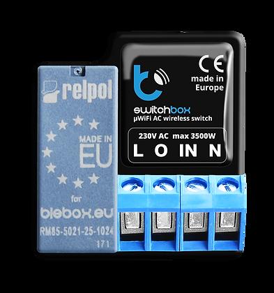 Blebox-switchbox v2 -kveikja og- slökkva á raftækjum á 230v kerfi