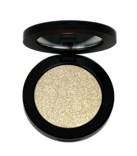 Sheer sparkly gold eye shadow
