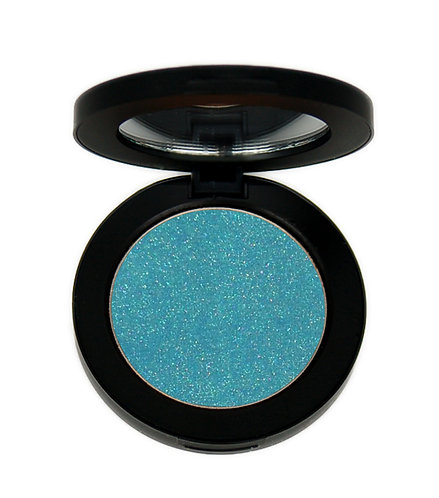 Bright baby blue eye shadow