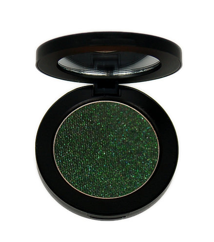 Sparkly deep forest green eye shadow