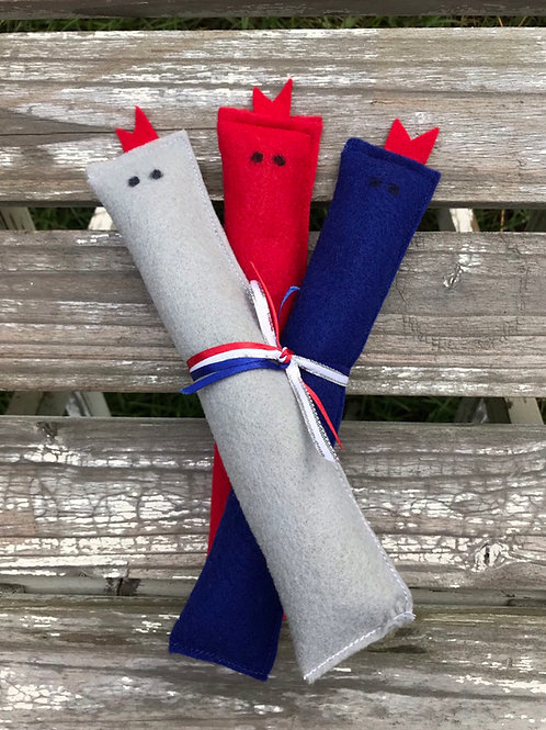 Patriots Catnip Slithers (Set of 3)