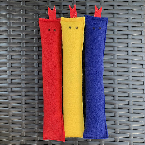 Primary Colors Catnip Slithers (Set of 3)