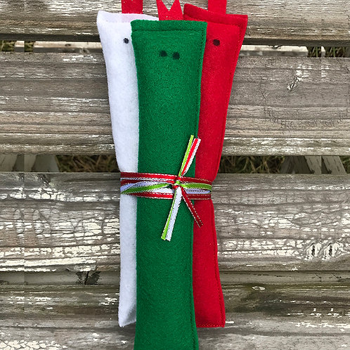 Christmas Catnip Slithers (Set of 3)