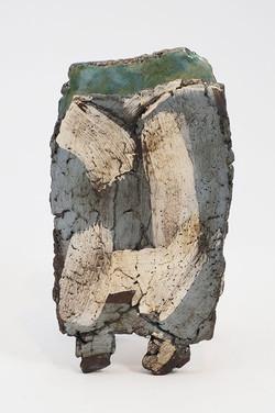 'Beach' slabbed pot on feet