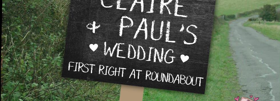 Chalkboard outdoor sign