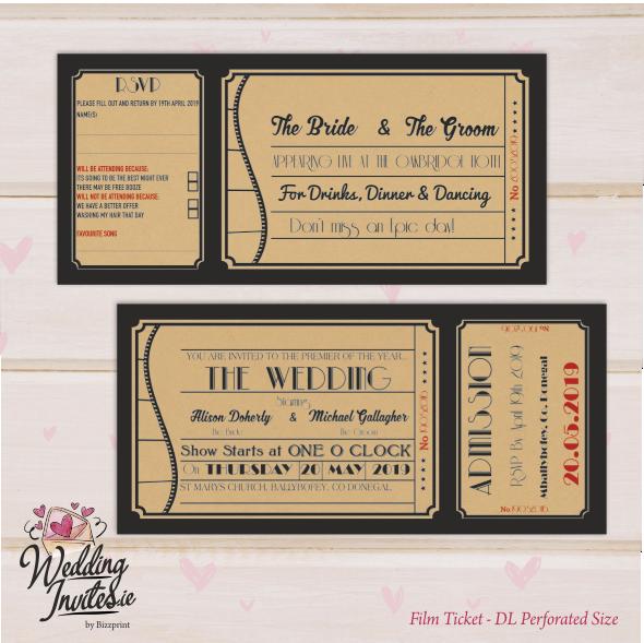 Ticket Style Film Ticket