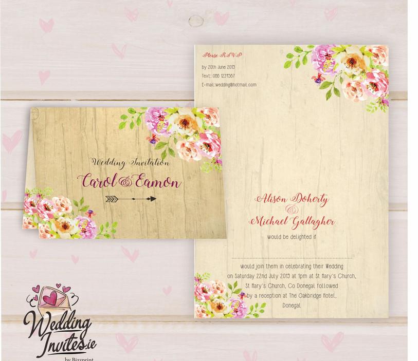 Floral Borders Wood
