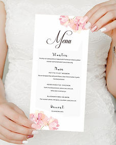 Wedding Menu. www.weddinginvites.ie