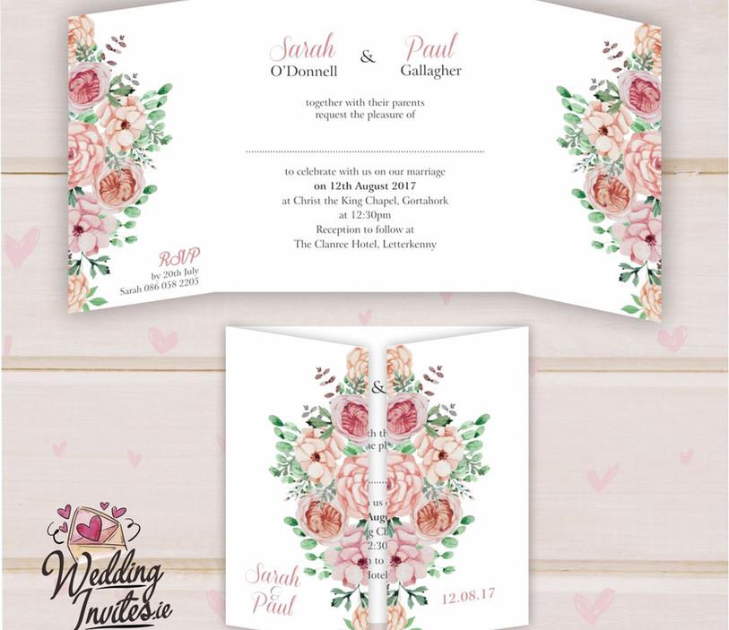 Floral Blush Roses